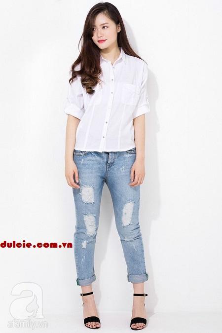 Quần Jean áo sơ mi nên mang giày gì (4)