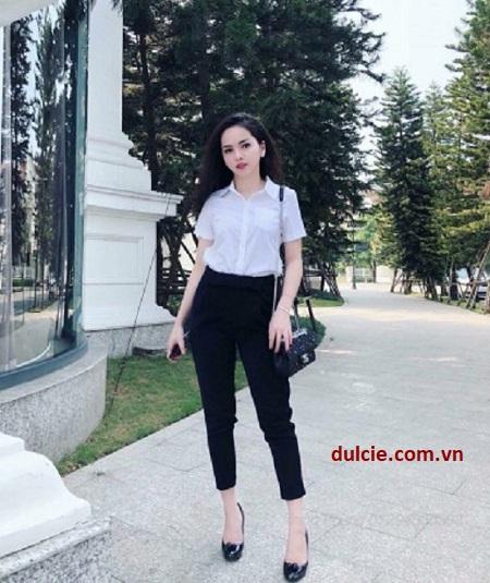 sơ mi trắng nên mặc với quần gì (1)