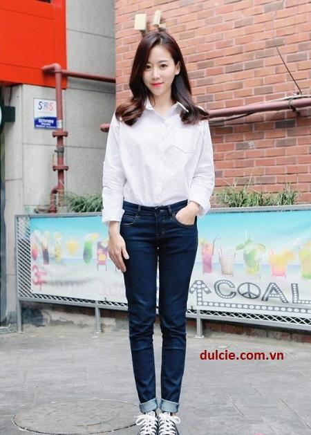 sơ mi trắng nên mặc với quần gì (2)